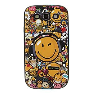 DUR Smiling Face Pattern Detachable Plastic Soft Back Case Cover for Samsung Galaxy S3 I9300