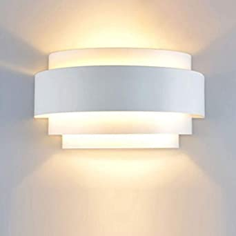 Maxmer Apliques de Pared Interior LED Luz de Pared 40W Iluminación Diseño para Dormitorio Salón Escalera, Blanco Cálido: Amazon.es: Iluminación
