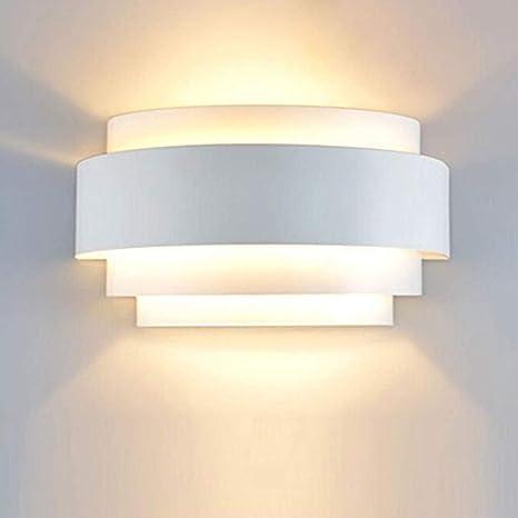 SISVIV 6W Lampada da Parete a LED Interno Applique Moderno in Metallo per  Camera da Letto Salotto Sala da Pranzo Ingresso Bianco