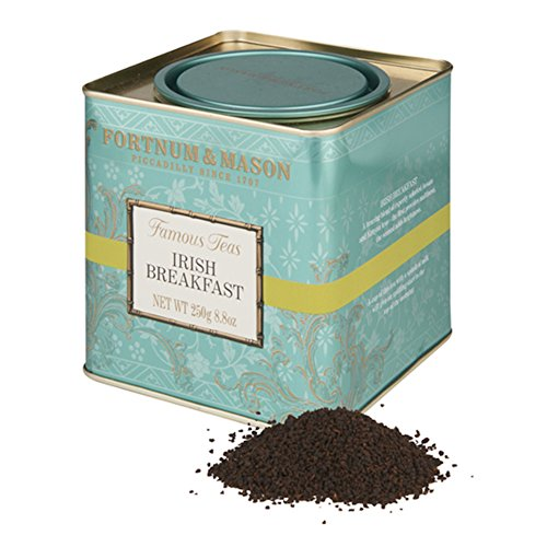 Breakfast Tea Caddy - Fortnum & Mason British Tea, Irish Breakfast, 250g Loose English Tea in a Gift Tin Caddy (1 Pack) - Seller Model Id Libsfl098b - USA Stock