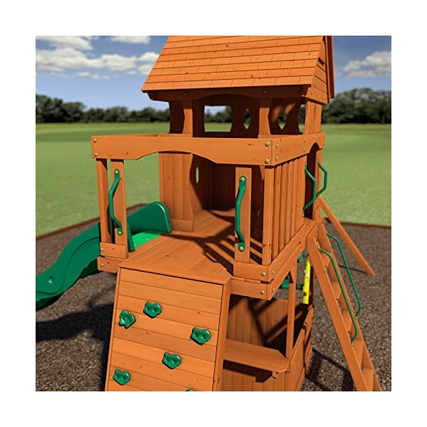 Backyard Discovery Monterey All Cedar Wood Playset Swing Set Your