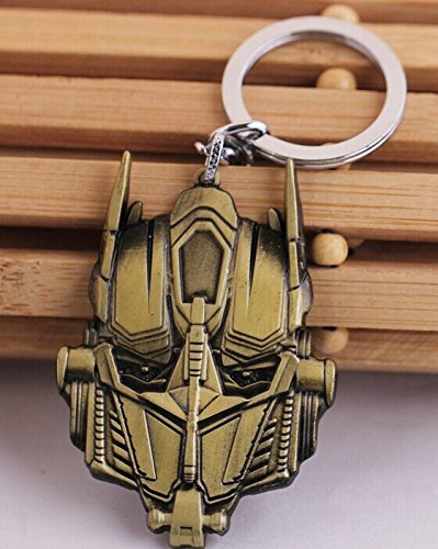 Transformers Optimus Prime Keychain - Transformers Optimus Prime Mask Metal keychains Key Ring key holder Color Bronze