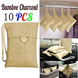 Oldeagle Car Bamboo Charcoal Bag, Car Bamboo Charcoal Activated Carbon Air Freshener Odor Deodorant (10PCs)