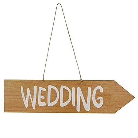 Michel Toys Cartel Wedding Madera, Aprox. 42 x 10,5 x 0,5 cm ...