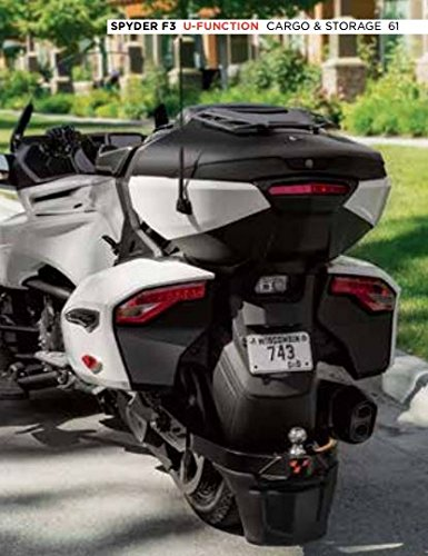 CAN-AM SPYDER F3-T TOP CASE BLACK WITH INTEGRATED PASSENGER BACKREST 219400897