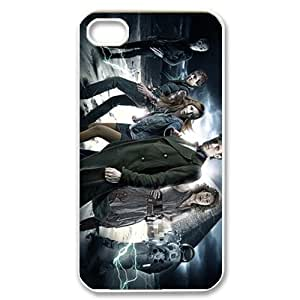 Movie Series DIY Cellphone Hard Back Skin Case For iPhone 4,4s(White Shell)-Doctor Who Matt Smith