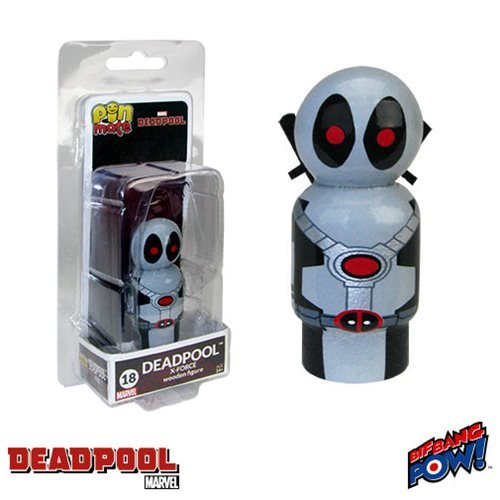 Deadpool X-Force Costume Pin Mate Wooden (Deadpool X Force Costumes)
