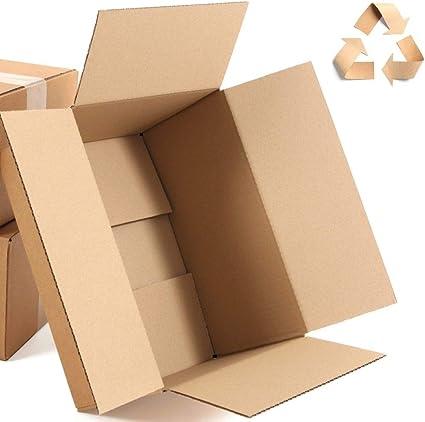 KartonProfis - Caja de cartón (300 x 200 x 100 mm), color marrón 300 x 200 x 100 mm: Amazon.es: Oficina y papelería