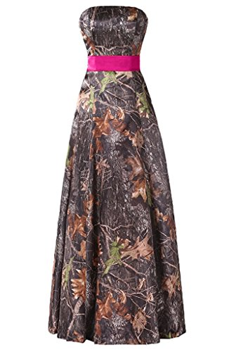 camo bridesmaid dresses with pink - 2