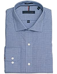 Tommy Hilfiger Men's Non Iron Regular Fit Check Spread...