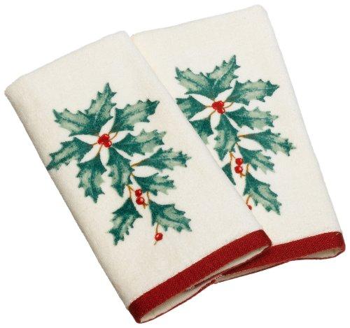 (Lenox Holiday Fingertip Towel, Set of 2)