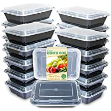 Enther Meal Prep Containers [20 Pack] Single 1 Compartment with Lids, Food Storage Bento Box |...