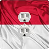 Rikki Knight 1710 Outlet Indonesia Flag Design Outlet Plate