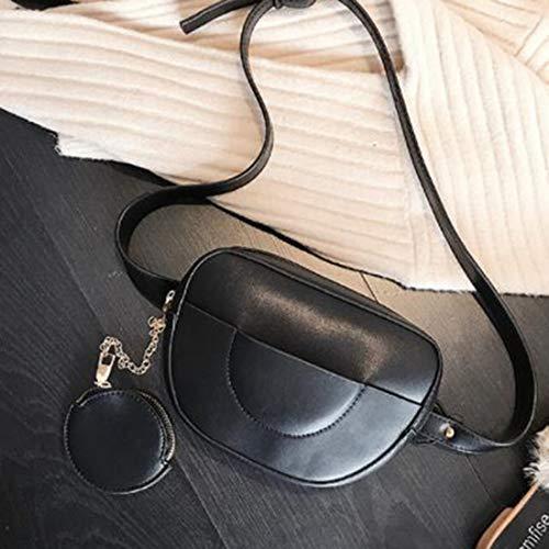 Bolsa De La Las Trasero Limeinimukete Cuero 2way Pu White color Bolso Cintura Black Hombro Inclinada Mujeres Aqg1PH1W