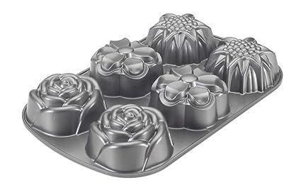 NordicWare 55248 Pastel Diseño de moldes de aluminio fundido Bouquet