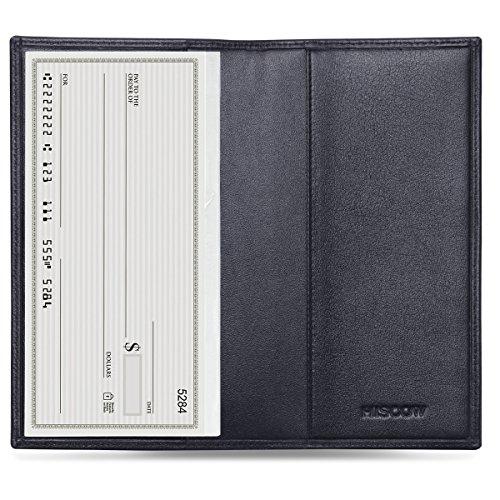 Nylon Checkbook Cover - HISCOW Classy Standard Checkbook Cover with Free Divider - Italian Calfskin