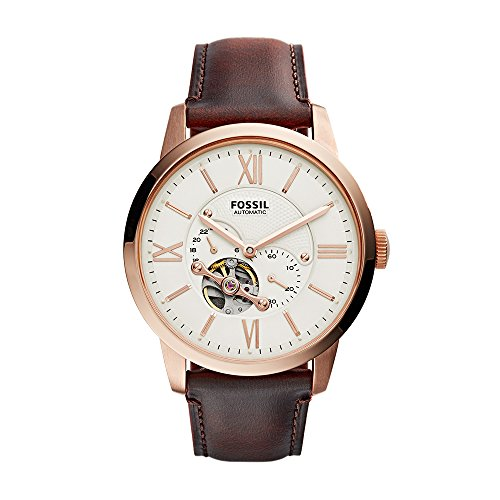 Fossil Men's ME3105 Analog Display Automatic Self Wind Brown Watch ()