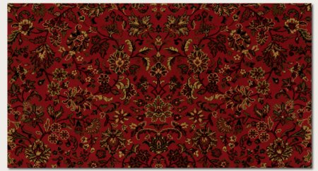 Couristan 3791/4872 Everest Isfahan/Crimson 3-Feet 11-Inch Round Rug Couristan Oriental Rugs Collection