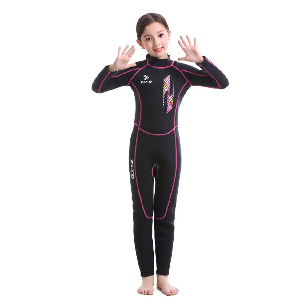 rose M Enfants Long Wetsuits - Néoprène 2,5MM Premium, Chaleur, Prougeection UV - Idéal pour la Voile Snorkeling Natation Plongée Surf Surf Scuba