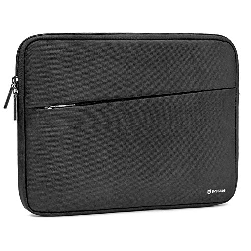 2017 Surface Pro Tablet Sleeve Evecase Water Repellent Shockproof Carrying Sleeve Protective Case Bag with Accessory Pocket for Microsoft Surface Pro Window 10 Pro 2017 Newest Version - Black 10 Netbook Bag Case