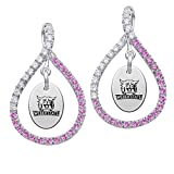 Weber State Wildcats Pink CZ Figure 8 Earrings