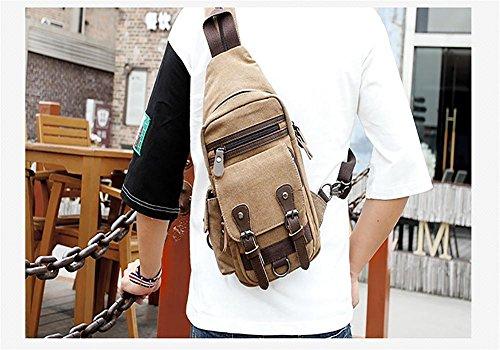 Hombro capacidad cofre Usable mensajero de cofre Gran Paquete Viajar del Hombros color Lienzo ZXJ coffee de Paseo Bolso Hombres Transformable Paquete wF8EqwvY