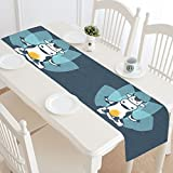 Happy More Custom Keep Calm Be Holy Cow Durable Cotton Linen Table Runner