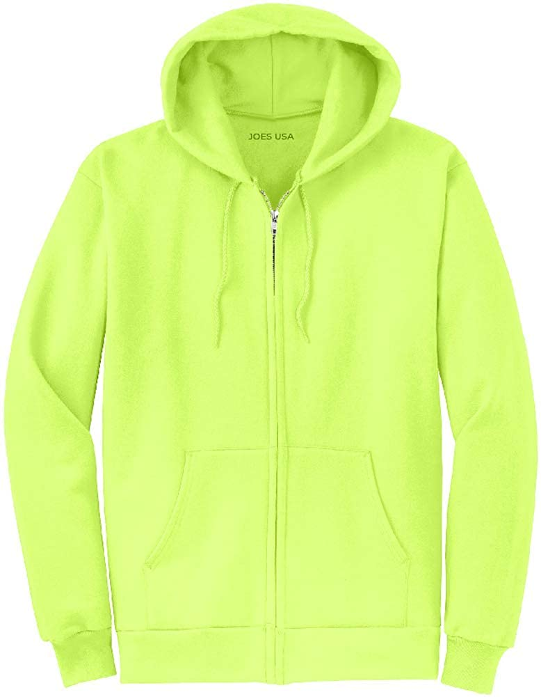 5b42f738 Joe's USA Full Zipper Hoodies - Hooded Sweatshirts in 28 Colors. Sizes  S-5XL at Amazon Men's Clothing store: