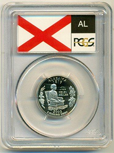 2003 S Alabama State Clad Flag Label Proof Quarter PR70 DCAM PCGS