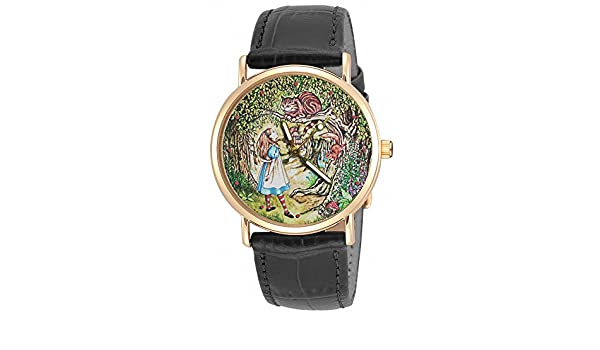 Amazon.com: ALICE IN WONDERLAND ORIGINAL LEWIS CARROLL VINTAGE CHESHIRE CAT ART 30 mm WRIST WATCH: Health & Personal Care