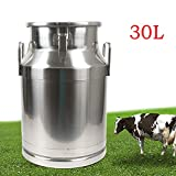 Milk Can, 30 Liter 8 Gallon Heavy Duty Stainless