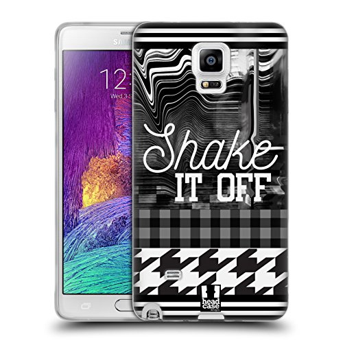 Head Case Designs Shake It Off Black And White Trends Soft Gel Case for Samsung Galaxy Note - Sha White Finish