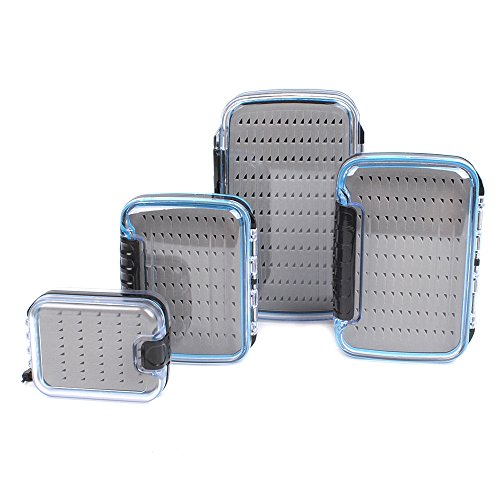 Dr.Fish Large Fly Fishing Box Waterproof Flies Case Storage Double Sided Clear View Deep Slot ()