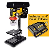 Wolf 9 Speed 16mm Pillar Drill Press Bench Top Mounted and Wolf 4'...