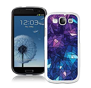 Beautiful Case Purple Geometric Ice Cube White Case for Samsung Galaxy S3 I9300
