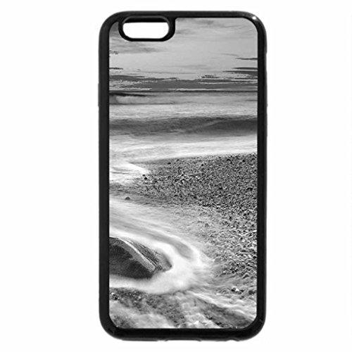 iPhone 6S Plus Case, iPhone 6 Plus Case (Black & White) - beach sunrise