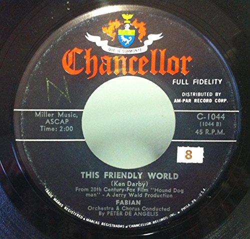 Man 45 Rpm Records (FABIAN THIS FRIENDLY WORLD / HOUND DOG MAN 45 rpm single)
