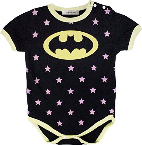 [Stylesilove Super Hero Baby Boy Costume Jumpsuit (12-18 Months, Black Batman)] (Batman Outfit Baby)