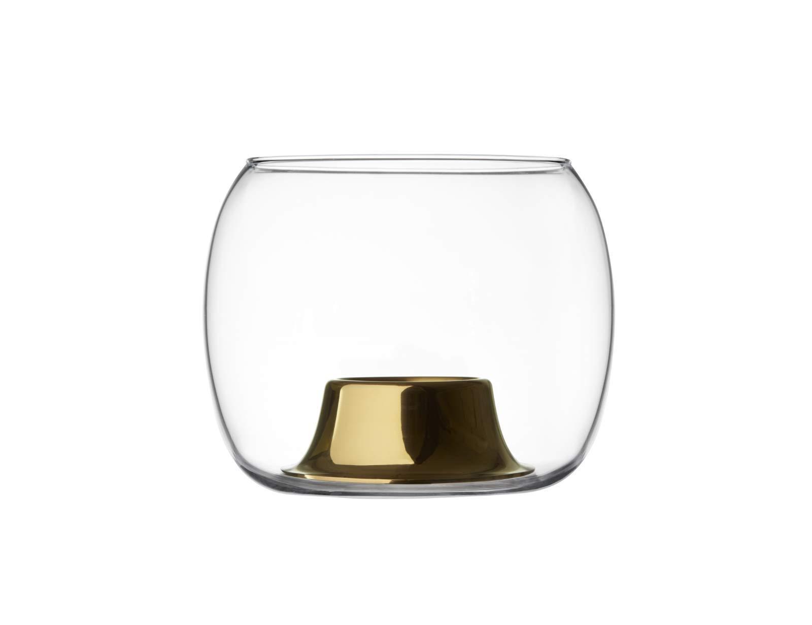 Iittala Kaasa Tea Light Holder 141 x 115 mm Clear/Rose Gold