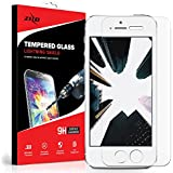 Zizo Glass Compatible with iPhone 5 / iPhone 5s / iPhone SE Tempered Glass Screen Protector Anti Scratch 9H Hardness 0.33mm Thickness
