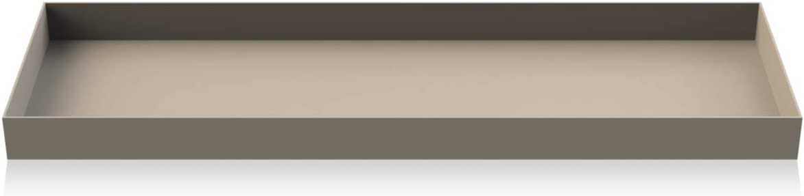 Vassoio in Acciaio Inox Colore: Grigio Cooee Design Tray 24,5 x 17,5 x 2 cm