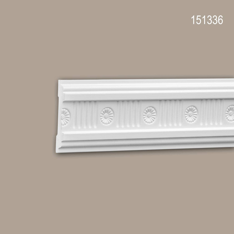 Moldura para pared 151336 Profhome Perfil de estuco Moldura decorativa Moldura decorativa pared estilo Neoclasicismo blanco 2 m
