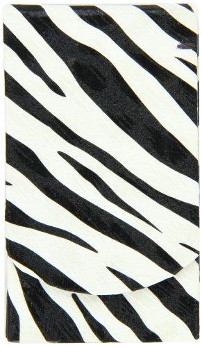 Boston International Black-White Zebra Pocket Tissue Holder -