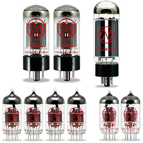 JJ Tube Upgrade Kit For Fender Silverface Deluxe Reverb Amps w/5U4GB 6V6S ECC83S ECC81 by J.J.