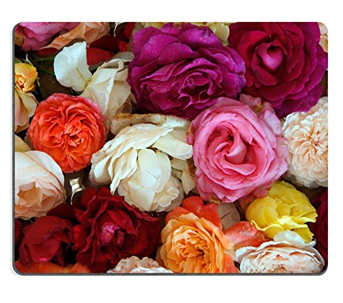 Price comparison product image Luxlady Mouse Pad Natural Rubber Mousepad IMAGE ID: 34783041 colorful Rosenblten