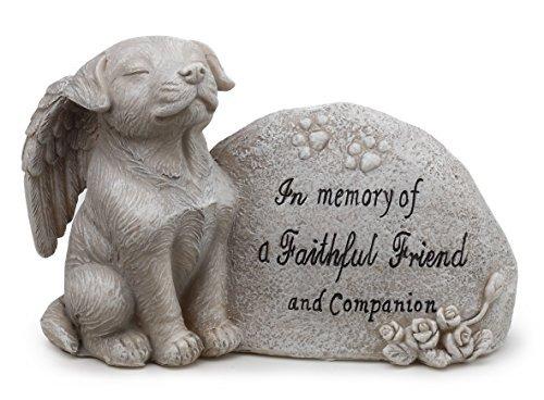 Napco Small Dog Memorial Stone by Napco Garden