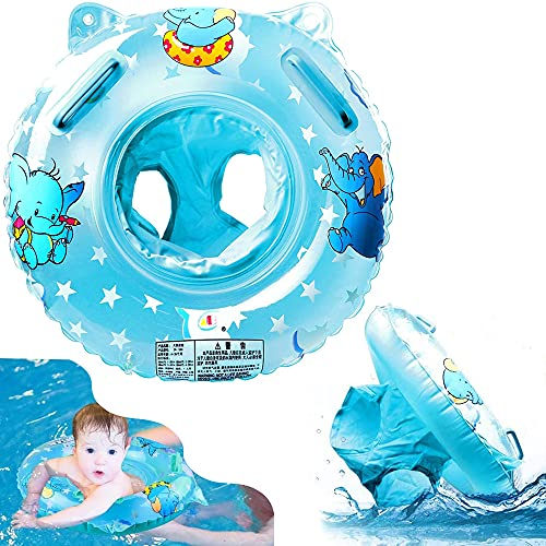 아기 수영 FLOAT 팽창식 수영 반지와 함께 떠 좌석 수영장 수레 장난감 목욕 액세서리에 적합한 6-36 개 어린이아 및 유아(블루)