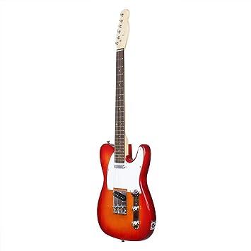 QINGZ Guitarra Eléctrica Diapasón De Arce Estudiante Instrumento Musical Portátil Música Rock: Amazon.es: Deportes y aire libre