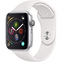 Apple Watch Series 4-44mm Space Silver Aluminum Case with White Sport Band, GPS, watchOS 5