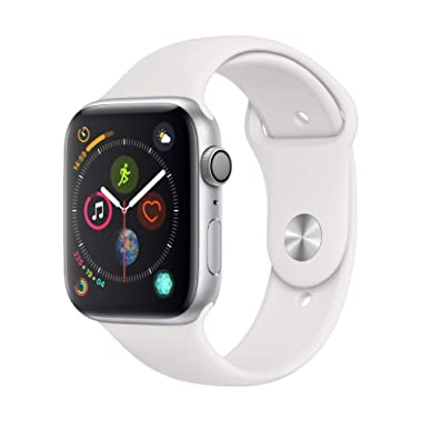 Apple Watch Series 4 (GPS, 44mm) - Silver Aluminium Case with White Sport Band